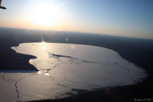Higgins Lake Ice Cracking